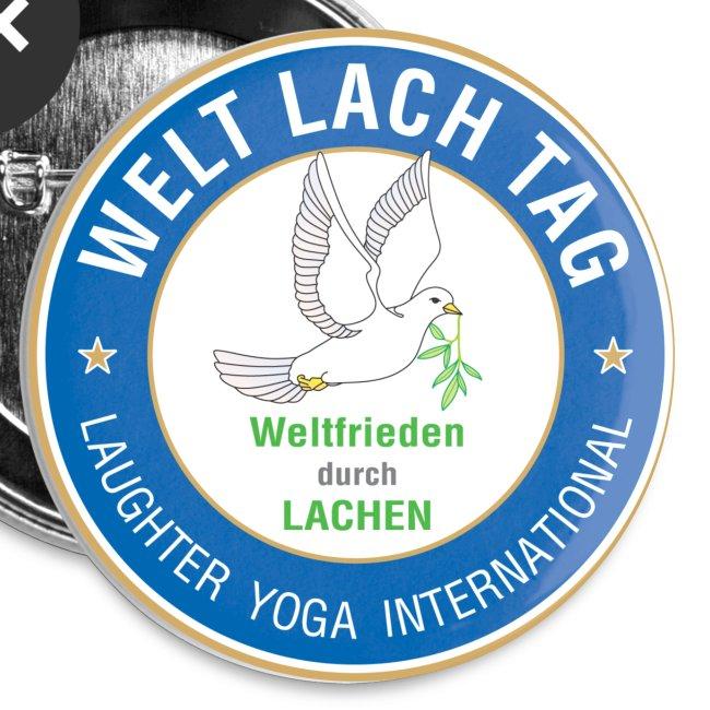 WELTLACHTAG Button mit aktuellem Logo