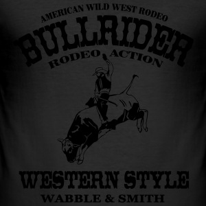 Western Rodeo - Bullrider T-shirts - Slim Fit T-shirt herr