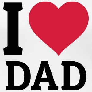 I love Dad jeg elsker far T-shirts - Dame premium T-shirt