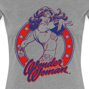 Wonder Woman Circle Dame T-Shirt - Dame premium T-shirt