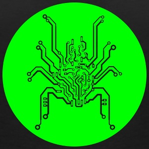 Circuit board spider T-Shirts - Women's V-Neck T-Shirt