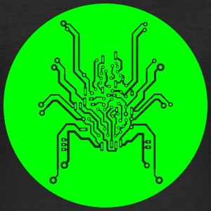 Circuit board spider T-Shirts - Men's Slim Fit T-Shirt