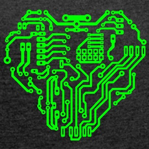 cyborg circuit T-Shirts - Women's T-shirt with rolled up sleeves
