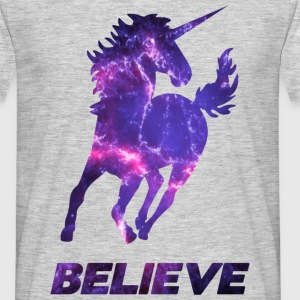 BELIEVE UNICORN UNISEX T-SHIRT - Men's T-Shirt