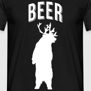 BEER DEER MEN T SHIRT - Men's T-Shirt