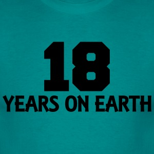 18 years on earth T-shirts - Mannen T-shirt