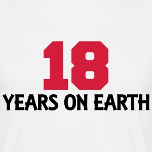 18 years on earth T-shirts - Herre-T-shirt