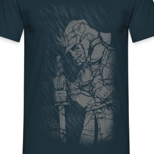Samurai in rain T-Shirts - Men's T-Shirt