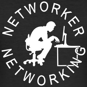 Networker networking T-Shirts - Männer Slim Fit T-Shirt