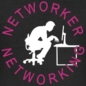 Networker networking 2C T-Shirts - Männer Slim Fit T-Shirt