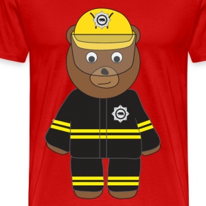 Firefighter Bear.png T-Shirts - Men's Premium T-Shirt