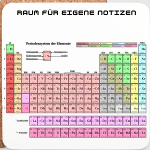 Periodic Table Of The Elements - Untersetzer (4er-Set)