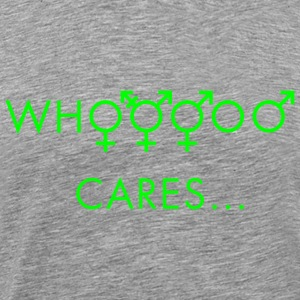 Who cares about gender T-Shirts - Men's Premium T-Shirt
