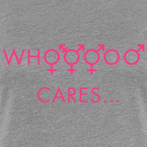 Gris chiné Who cares about gender Tee shirts - T-shirt Premium Femme