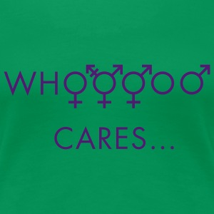 Kelly groen Who cares about gender T-shirts - Vrouwen Premium T-shirt