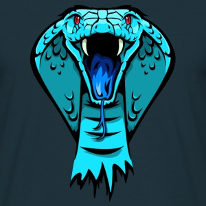 king cobra blue T-Shirts - Männer T-Shirt