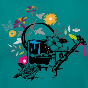 Sheet metal watering can with flowers and butterfl T-Shirts - Women's T-Shirt