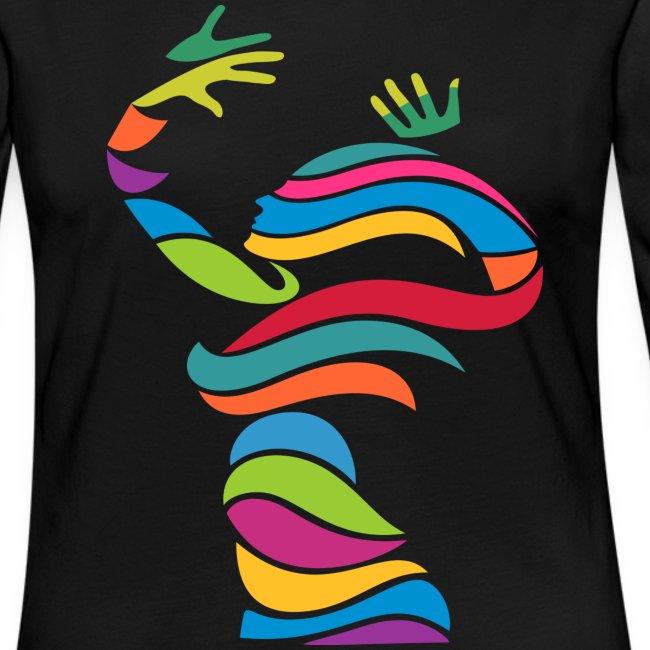 Wellentänzerin-Frauen-Langarmshirt