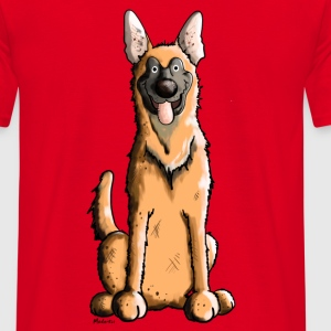 Happy Malinois - Belgian Shepherd Dog T-Shirts - Men's T-Shirt