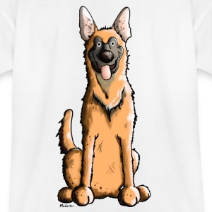Happy Malinois - Belgian Shepherd Dog Shirts - Teenage T-shirt