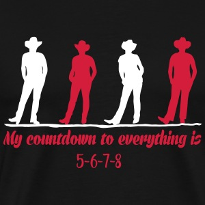 Line dance countdown T-Shirts - Men's Premium T-Shirt