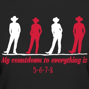 Linedance Countdown T-Shirts - Frauen Bio-T-Shirt