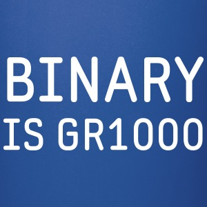 Binary is Great (GR8) Maths Joke Mugs & Drinkware - Full Colour Mug