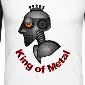King of Metal - Männer Baseballshirt langarm