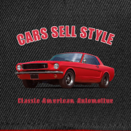 Design ~ Snapback cap | 65 Red Mustang | Classic American Automotive
