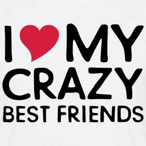 I (Heart) My Crazy Friends T-shirts - Herre-T-shirt