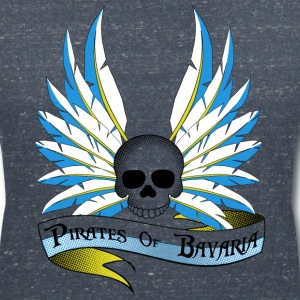 Pirates of Bavaria White Shirts - Frauen T-Shirt mit V-Ausschnitt