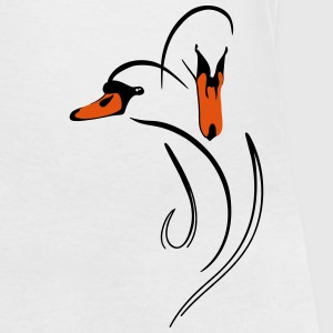 swan T-Shirts - Women's V-Neck T-Shirt