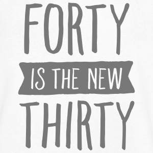 Forty Is The New Thirty T-shirts - T-shirt med v-ringning herr