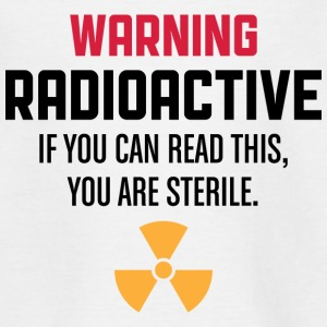 Forsigtig: Radioactive T-shirts - Teenager-T-shirt