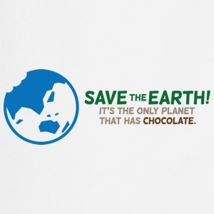 Save the planet. There is chocolate!  Aprons - Cooking Apron