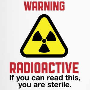 Attention: Radioactive Bouteilles et Tasses - Mug thermos