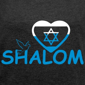 Shalom T-Shirts - Women's T-shirt with rolled up sleeves