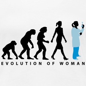 evolution_chemikerin-biologin_mta_042015_ T-Shirts - Frauen Premium T-Shirt