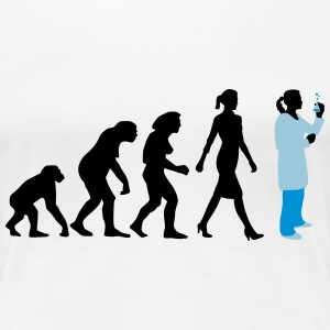 evolution_chemikerinbiologin_mta_042015_ T-Shirts - Frauen Premium T-Shirt