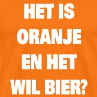 Ontwerp ~ Raadsel T-shirt Het is oranje en het wil bier?