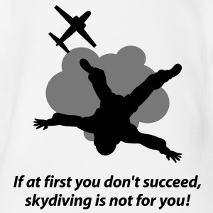 Unlucky should not go skydiving Shirts - Organic Short-sleeved Baby Bodysuit