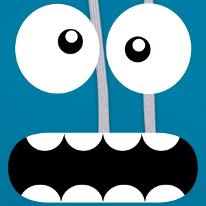 Funny Cartoon Monster Face - Crazy / Smiley Puserot - Kontrastihuppari