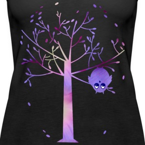 Owl and tree Tops - Women's Premium Tank Top