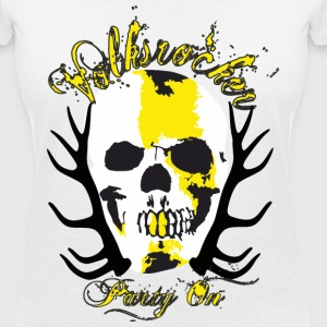 Volksrocker Party On - Frauen T-Shirt mit V-Ausschnitt