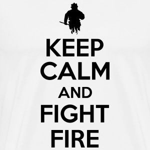 Keep calm and fight fire T-shirts - Herre premium T-shirt