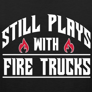 Still plays with fire trucks Tanktops - Mannen Premium tank top