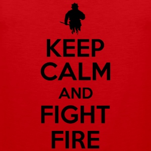 Keep calm and fight fire Tanktops - Mannen Premium tank top