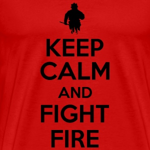 Keep calm and fight fire Koszulki - Koszulka męska Premium
