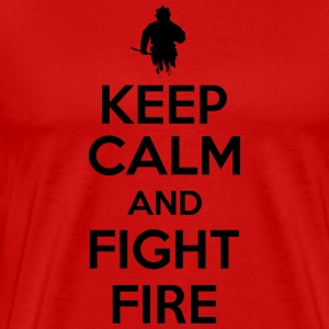 Keep calm and fight fire T-shirts - Premium-T-shirt herr