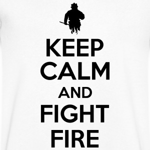Keep calm and fight fire Tee shirts - T-shirt Homme col V